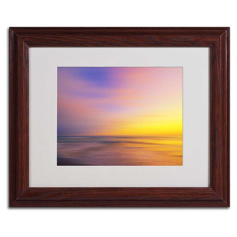 11 in. x 14 in. Metallic Sunset Matted Framed Art