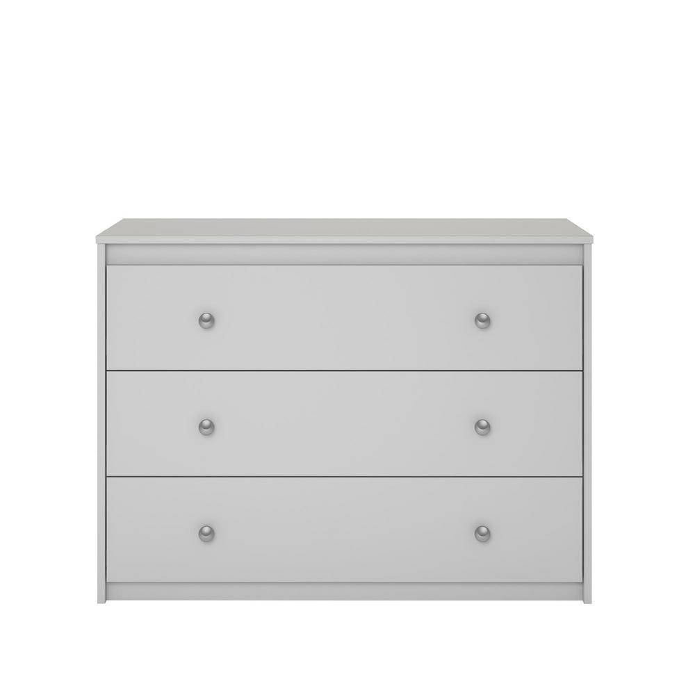 Sandhill 3-Drawer Dove Gray Dresser