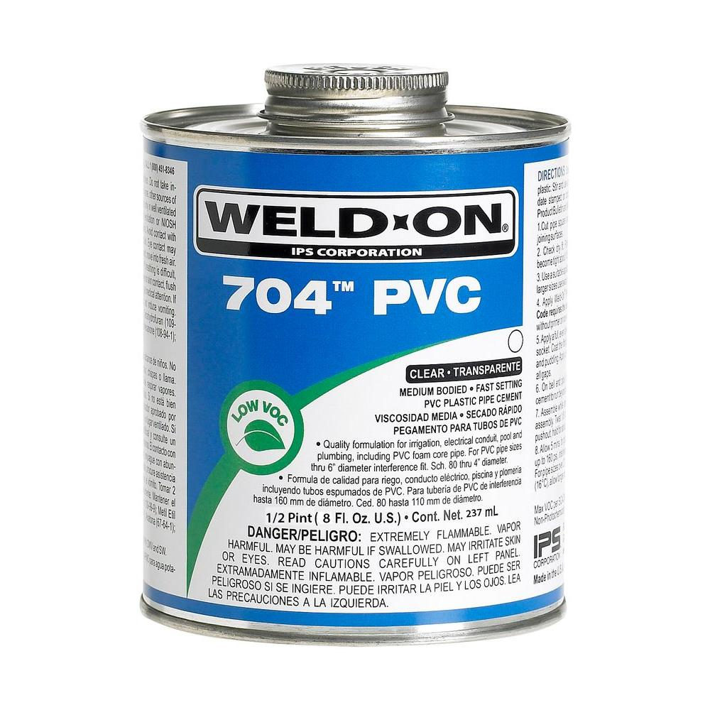 8 oz. PVC 704 Medium Cement, Clear