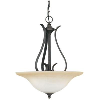 Prestige 3-Light Sable Bronze Hanging Pendant