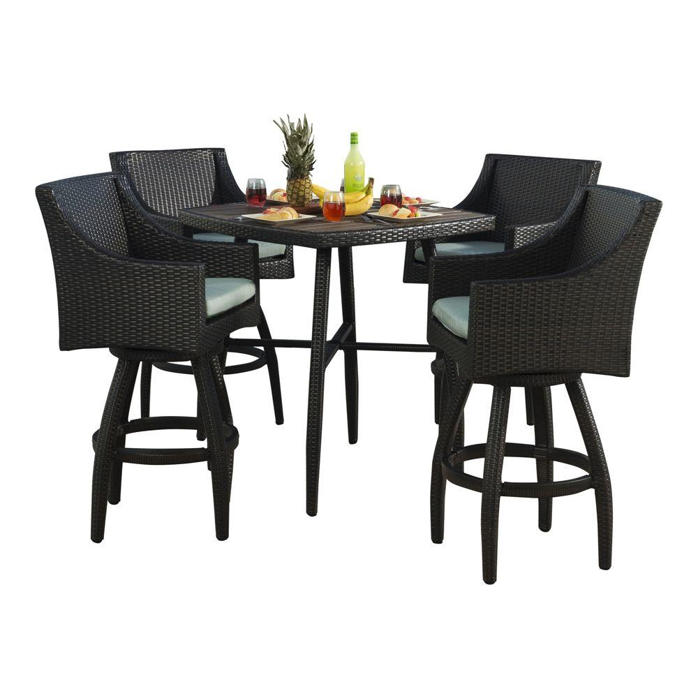 Bar Furniture Sets: RST Brands Deco 5-Piece All-Weather Wicker Patio Bar