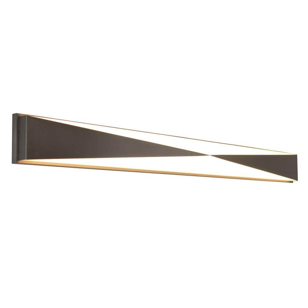 Novara 62-Watt 49 in. Satin Nickel Integrated LED Bath Light
