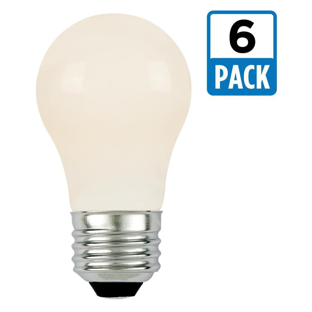 40W Equivalent Soft White A15 Dimmable Filament LED Light Bulb (6-Pack)