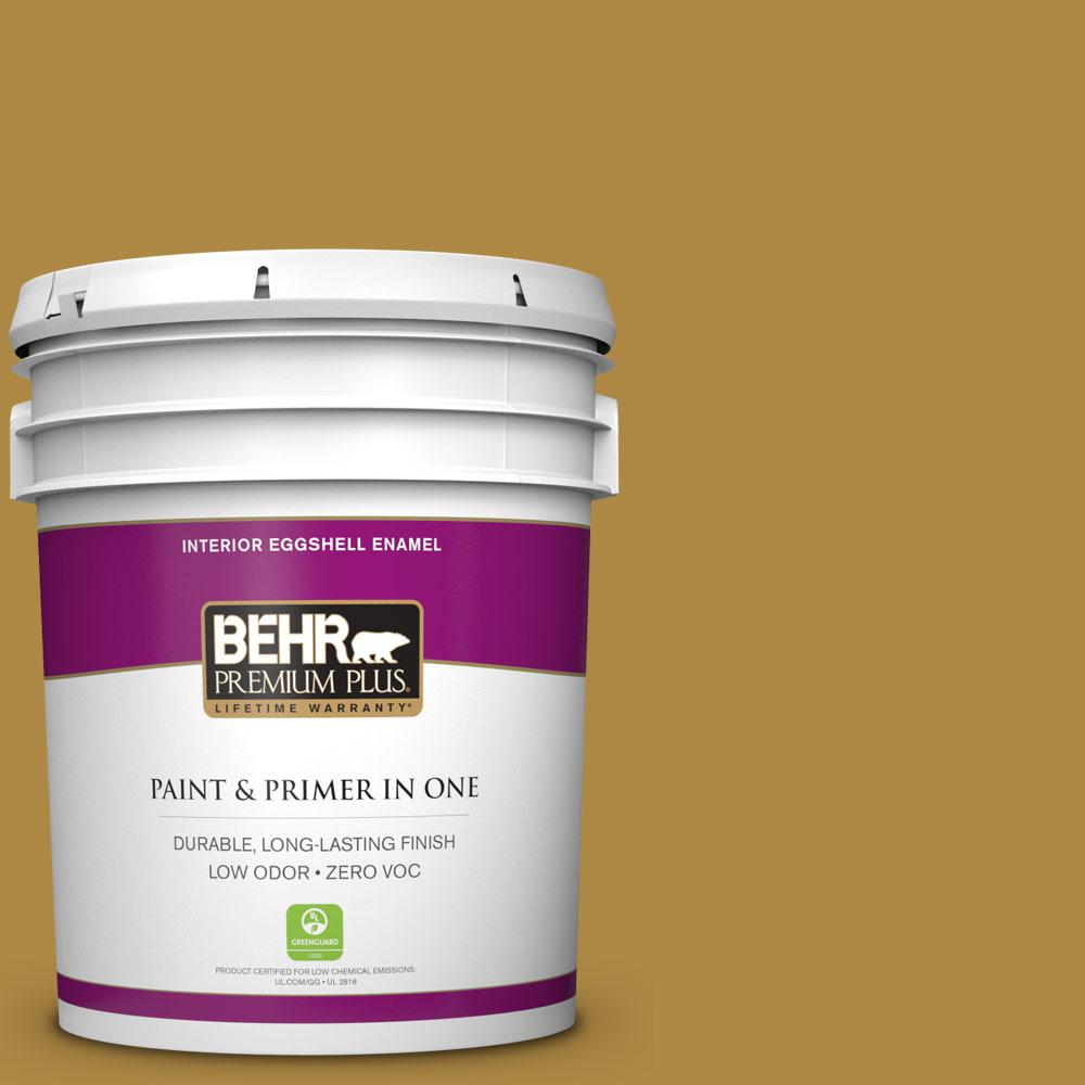 5 gal. #M300-6 Indian Spice Zero VOC Eggshell Enamel Interior Paint