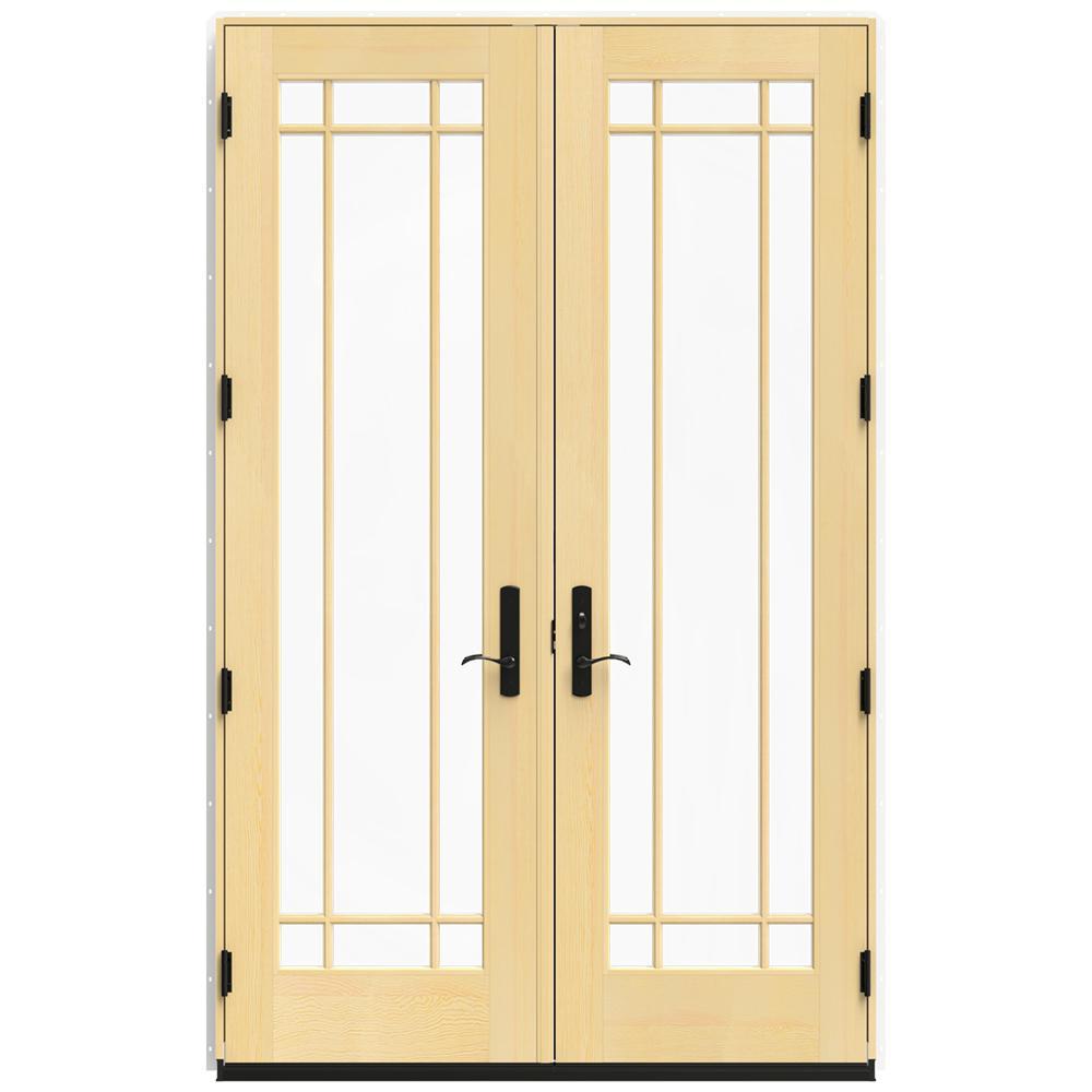 60 in. x 96 in. W-4500 White Clad Wood Left-Hand  sc 1 st  The Home Depot & JELD-WEN - Exterior Doors - Doors \u0026 Windows - The Home Depot