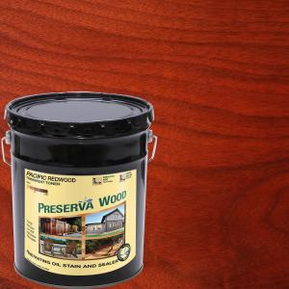 Preserva Wood 5 Gal Oil Based Pacific Redwood Penetrating