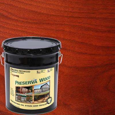 5 gal. Oil-Based Pacific Redwood Penetrating Stain and Sealer