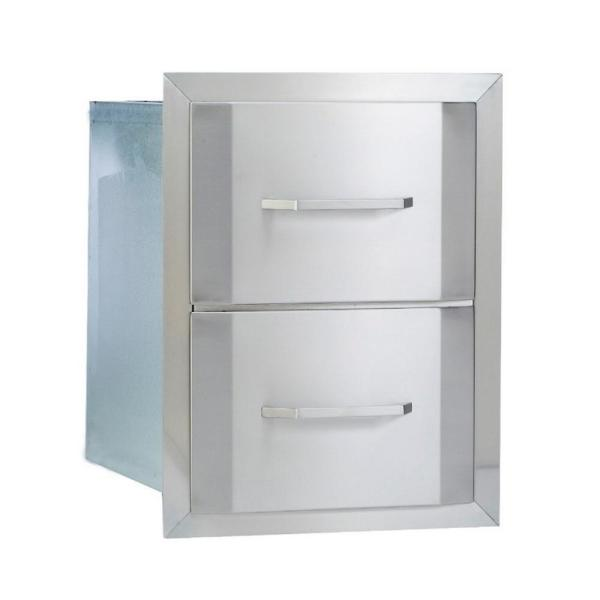 Built In Double Drawer Width 17 in. - Bullet by Bull