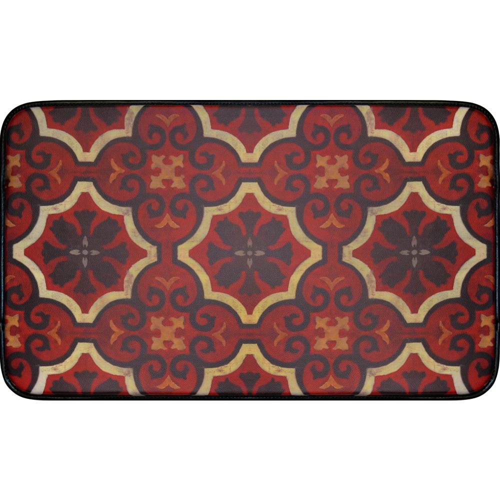 Home Dynamix Designer Chef Red Tiles 18 In X 30 In Anti