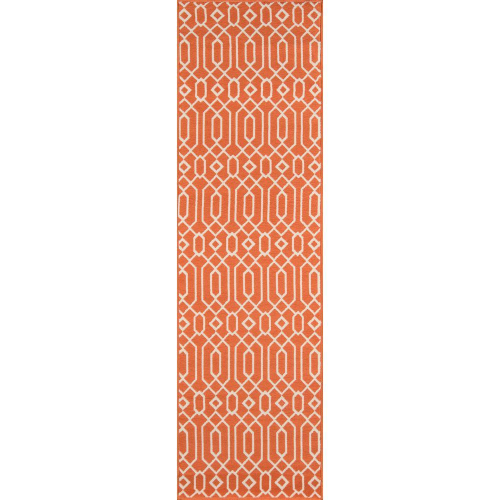 Baja Links Orange 2 ft. 3 in. x 7 ft. 6 in. Indoor/Outdoor Runner
