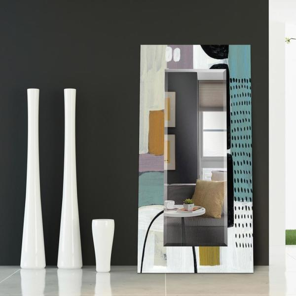 Elegant Geometry Decorative Rectangular 31 x 40 0.75-Beveled Antique Mirror for Bathroom,Bedroom,Living Room,Ready to Hang Empire Art Direct Wall Clear