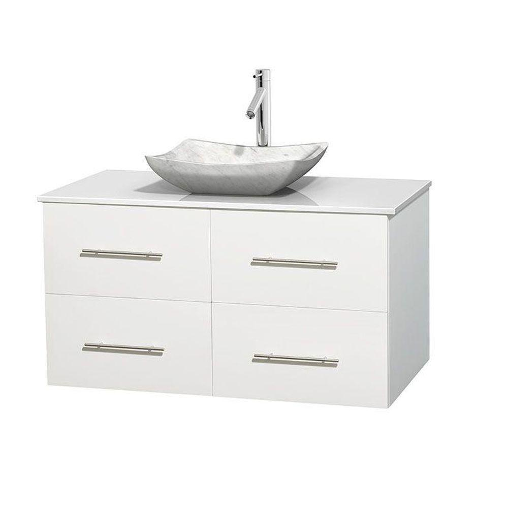 Vanity Tops Product : Wyndham collection centra in vanity white with