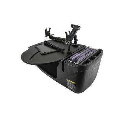 Roadmaster Car Desk with Inverter, Phone Mount, Tablet Mount and Printer Stand in Black