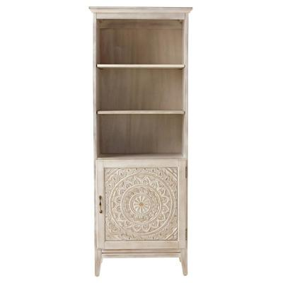 Chennai 25 in. W Linen Cabinet in White Wash