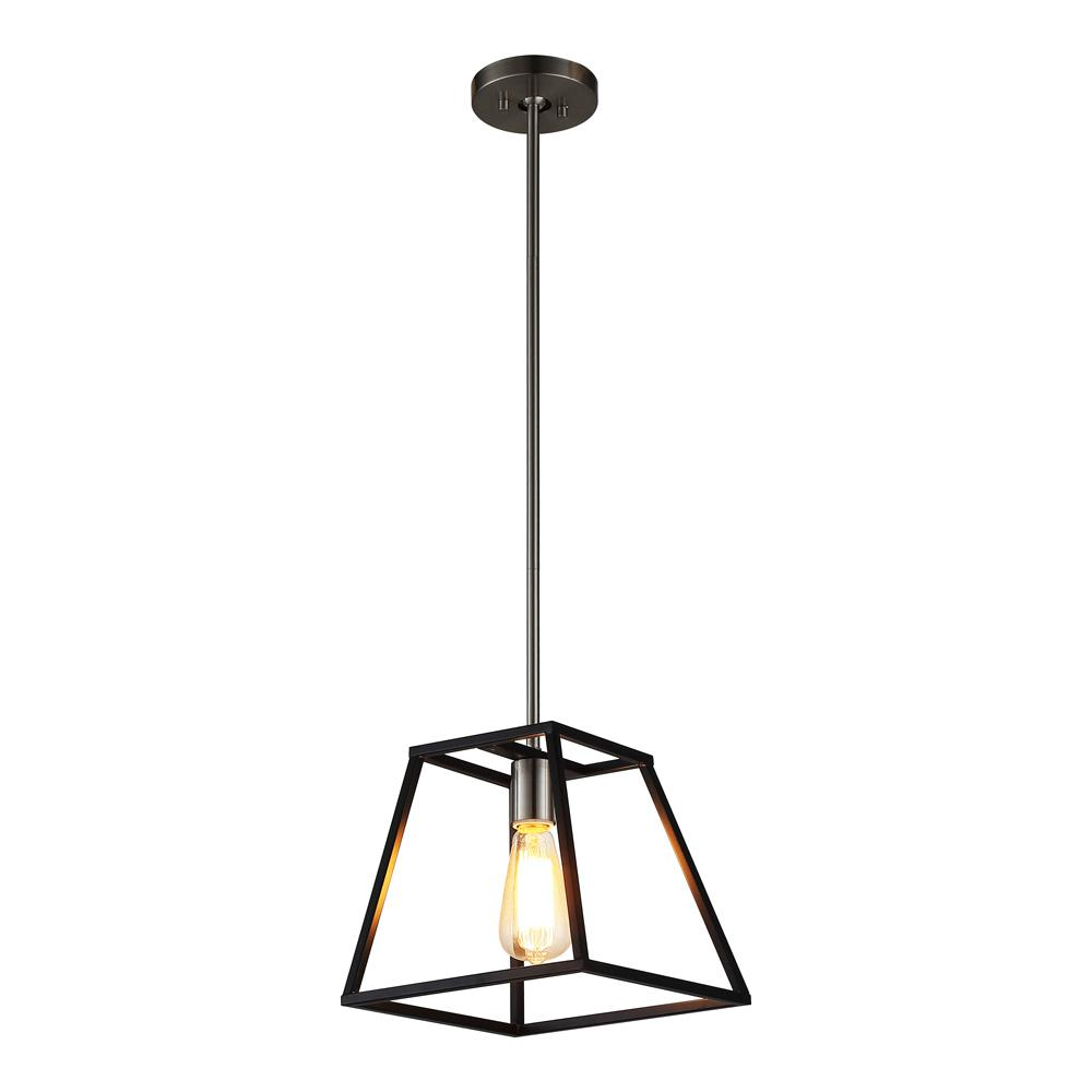 Home Depot Pendant Lights: OVE Decors AGNES I 1-LIGHT BLACK PENDANT-Agnes I