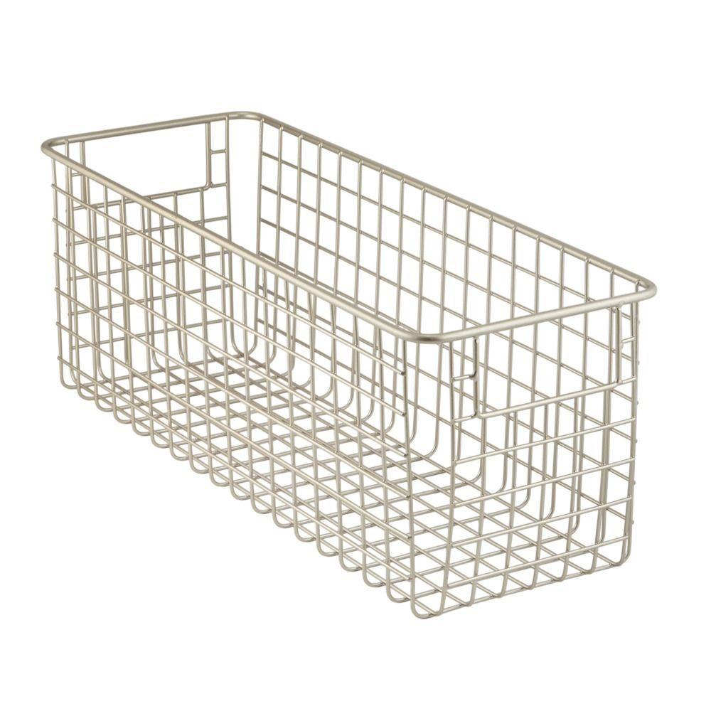 InterDesign Classico Deep Wire Basket 1 In Satin