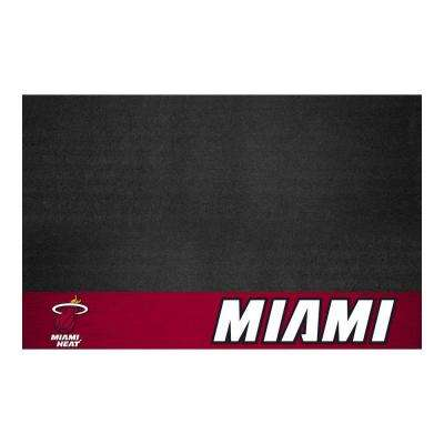 Miami Heat 26 in. x 42 in. Grill Mat