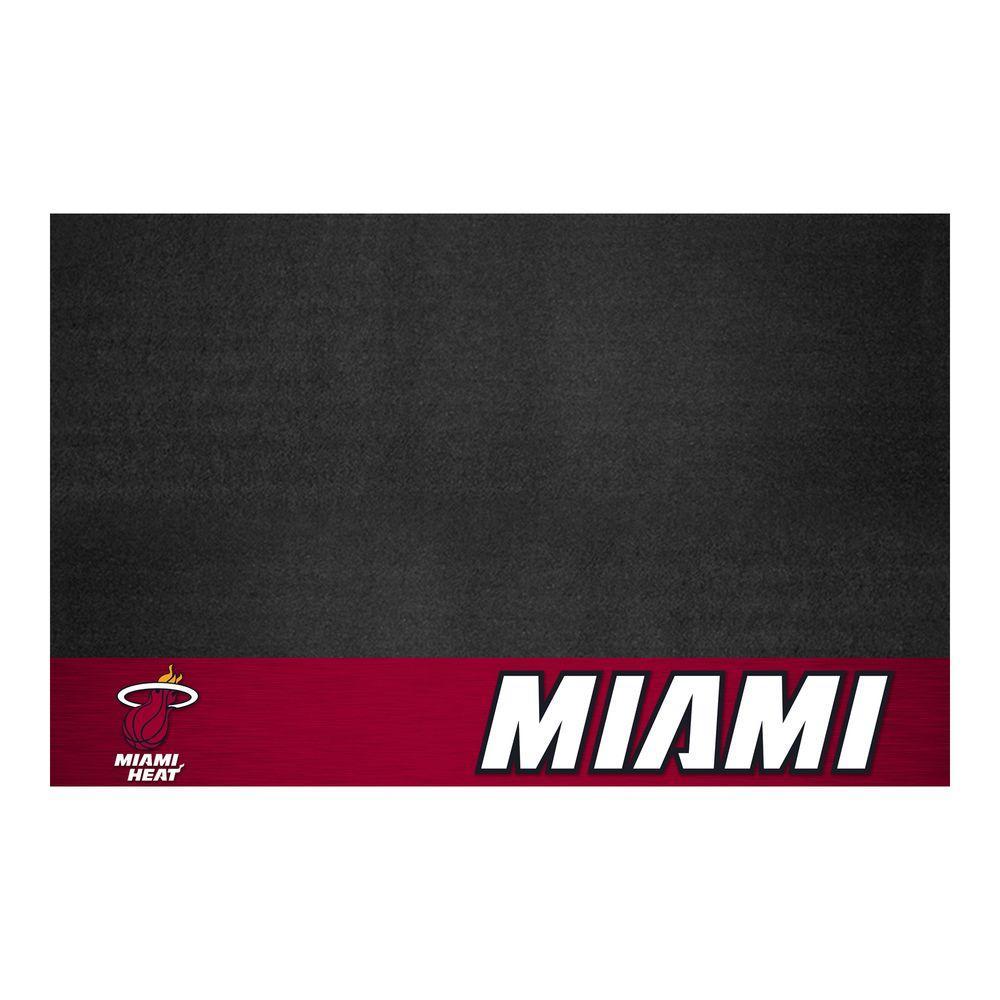 Miami Heat 26 in. x 42 in. Grill Mat