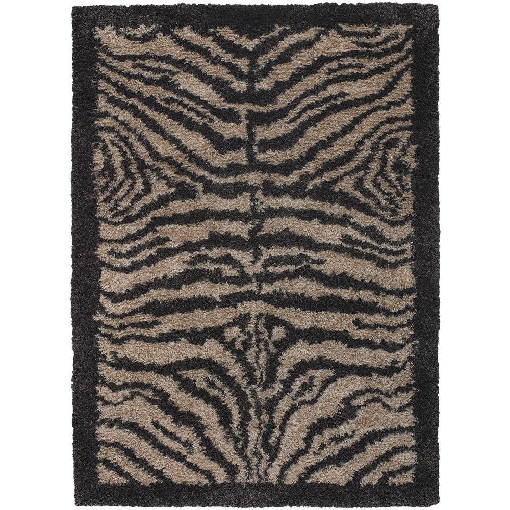 Amazon Tan/Brown/Black 9 ft. x 13 ft. Indoor Area Rug