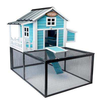 Pacific Coast Chicken Coop with 20 sq. ft. Metal Pen