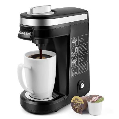 Black Single Serve Coffee Maker Brewer for Single Cup Capsule with 12 Oz. Reservoir