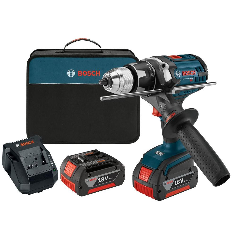 18 Volt Lithium-Ion Cordless 1/2 in. Variable Speed Tough Drill/Driver Kit