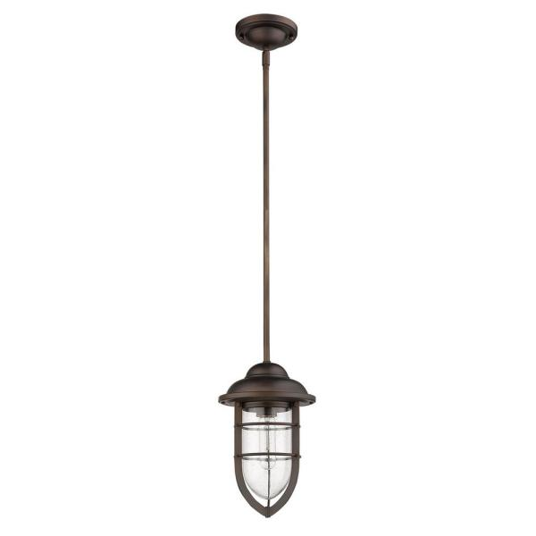 Dylan 1-Light Oil-Rubbed Bronze Outdoor Convertible Mini-Pendant