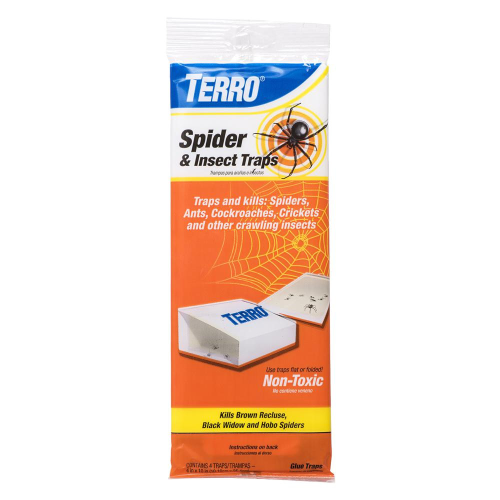 TERRO Non-Toxic Spider and Insect Trap (4-Count)
