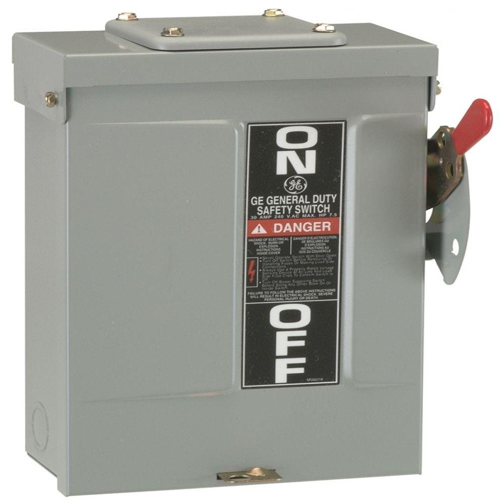 GE 200 Amp 240-Volt Fusible Outdoor General-Duty Safety Switch-TG4324R -  The Home DepotThe Home Depot
