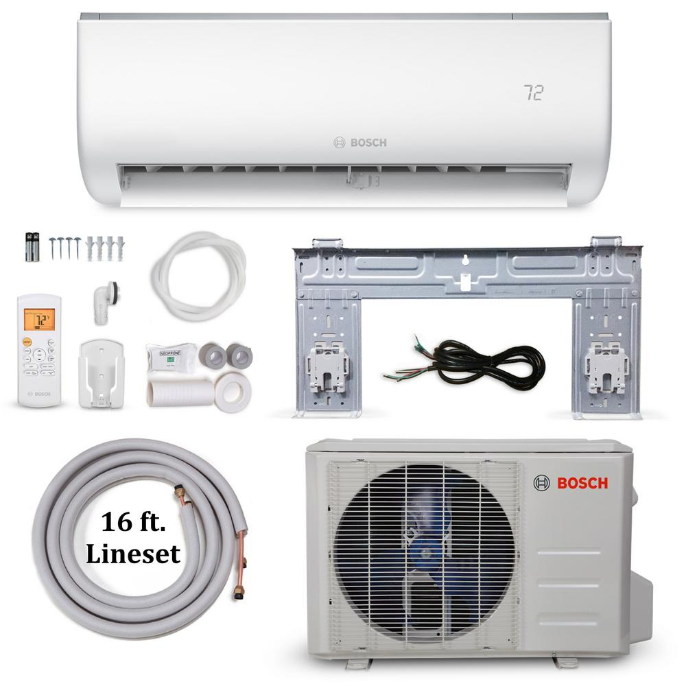 Bosch Climate 5000 Energy Star 18,000 BTU 1.5 Ton Ductless Mini Split Air  Conditioner and Heat