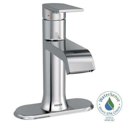 Genta Single Hole Single-Handle Bathroom Faucet with Drain Assembly in Chrome