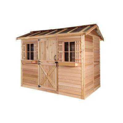 Hobbyhouse 12 ft. x 8 ft. Western Red Cedar Garden Shed
