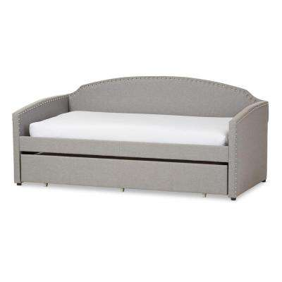 Lanny Contemporary Gray Fabric Upholstered Twin Size Daybed
