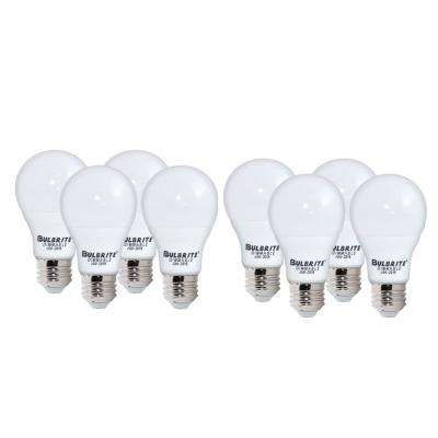60-Watt Equivalent Light Frost A19 Dimmable UL Enclosed JA8 LED Light Bulb Warm White (8-Pack)
