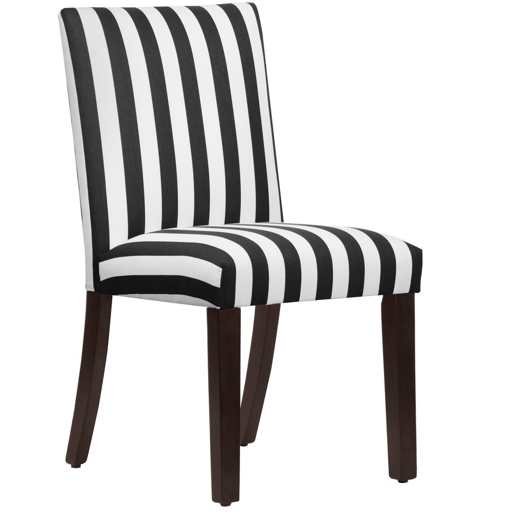 Canopy Stripe Black And White Uptown Dining Chair