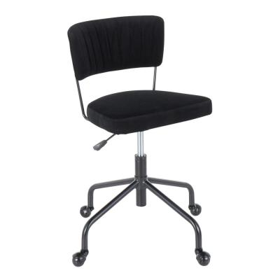 Tania Black Task Chair Black Velvet