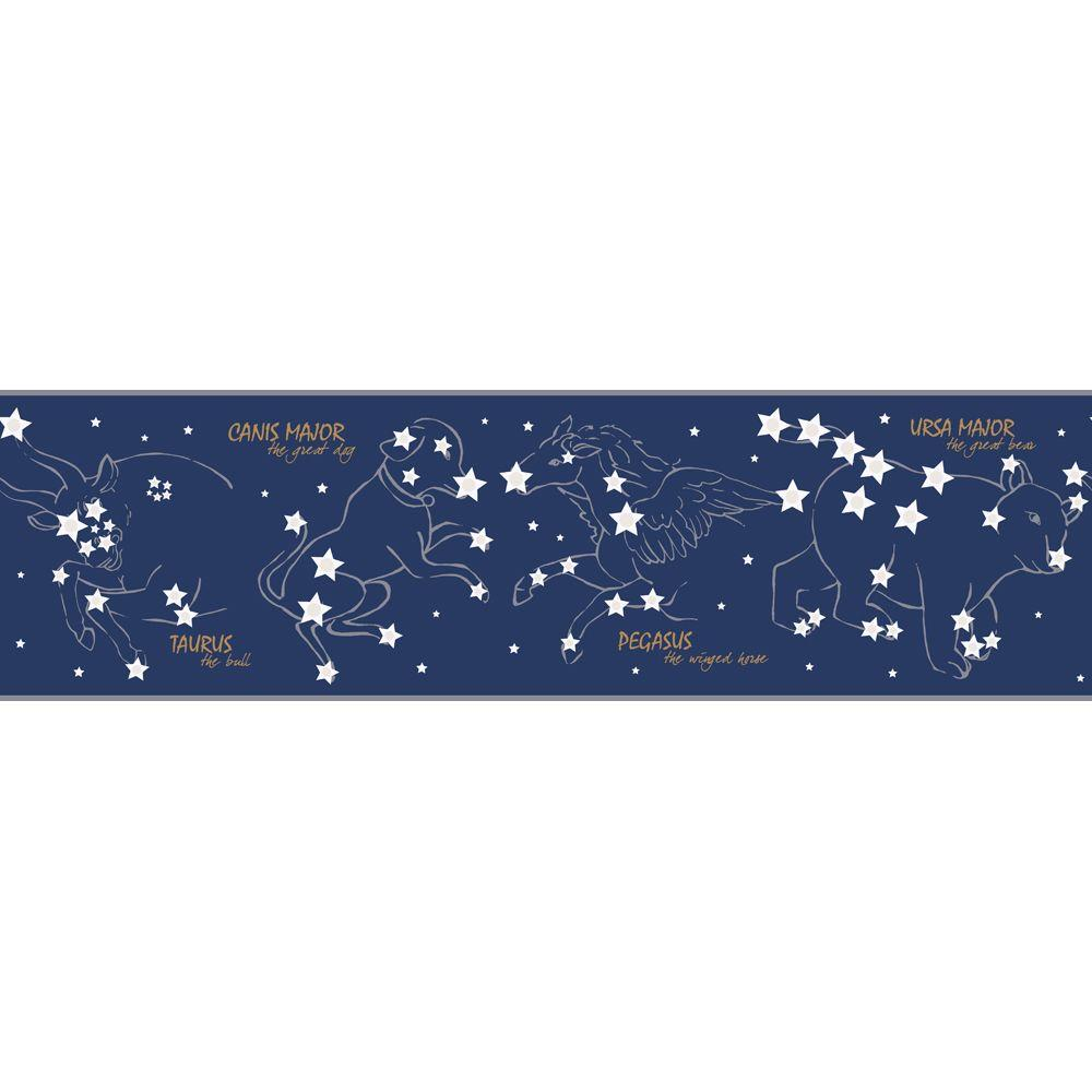 York Wallcoverings 6.75 in. Constellation Border-DISCONTINUED