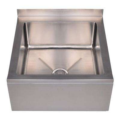 Noah's Collection 20 in. x 24 in. x 10 in. Stainless Steel Wall-Mount Utility/Mop Sink