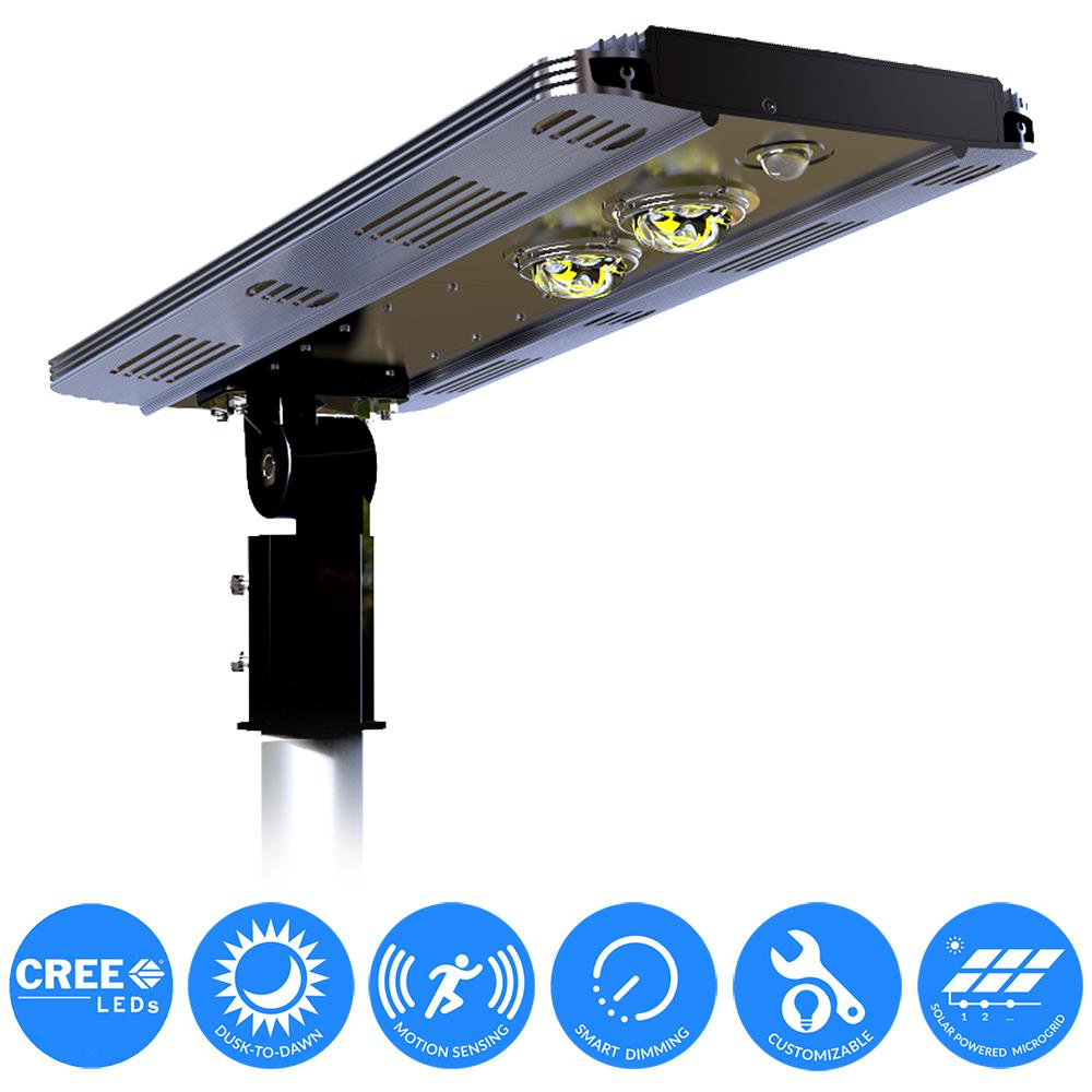 Dusk to dawn solar outdoor security lighting outdoor lighting solar power smart led street light for commercial and residential parking lots bike paths aloadofball Choice Image