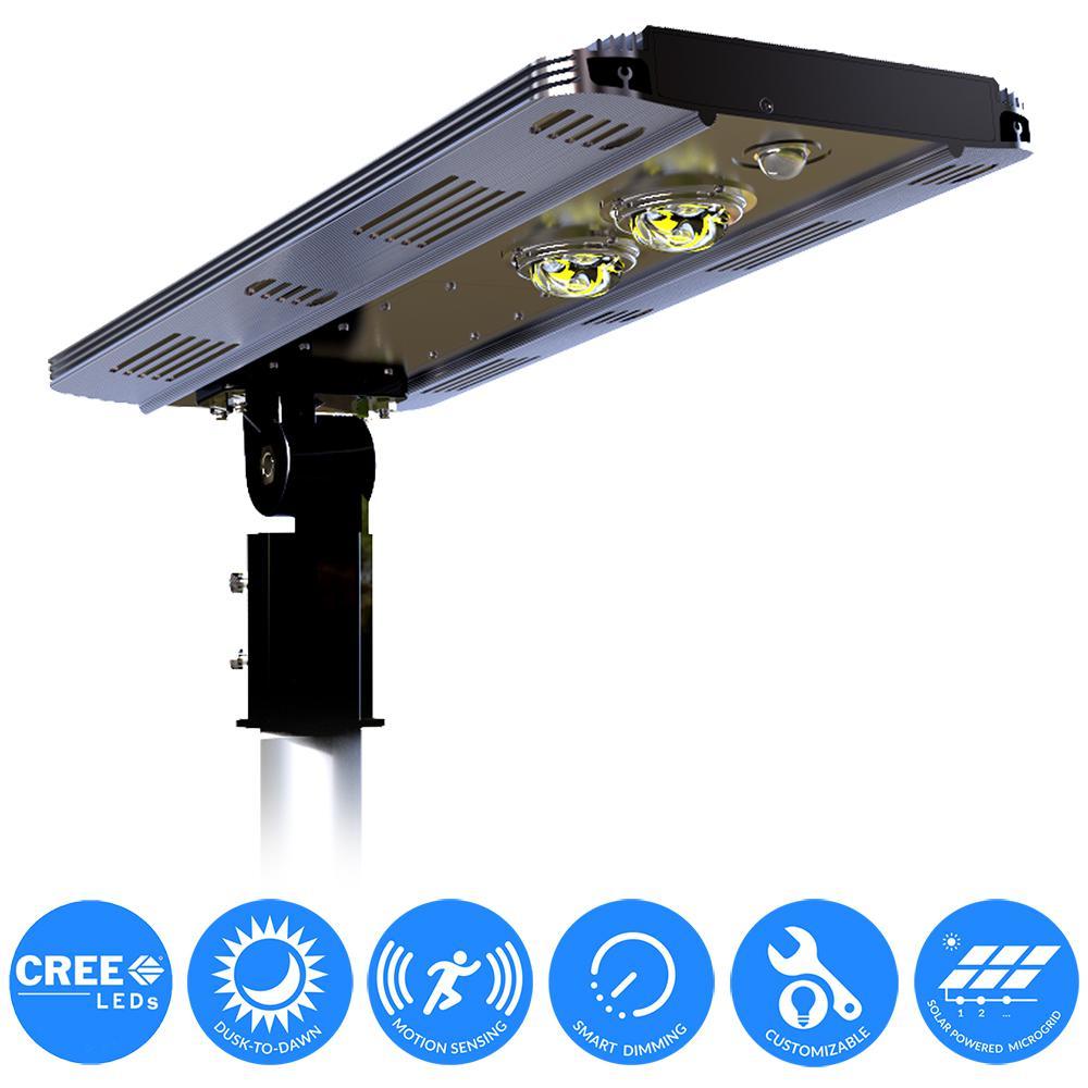 Street Light Voltage In Canada: ELEDing Solar Power SMART LED Street Light For Commercial