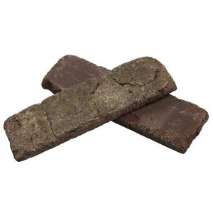 Cafe Mocha Thin Brick Singles - Flats (Box of 50) - 7.625 in. x 2.25 in. (7.3 sq. ft.)