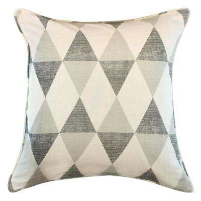 American Colors Shades of Grey Diamond Design Decorative Pillow