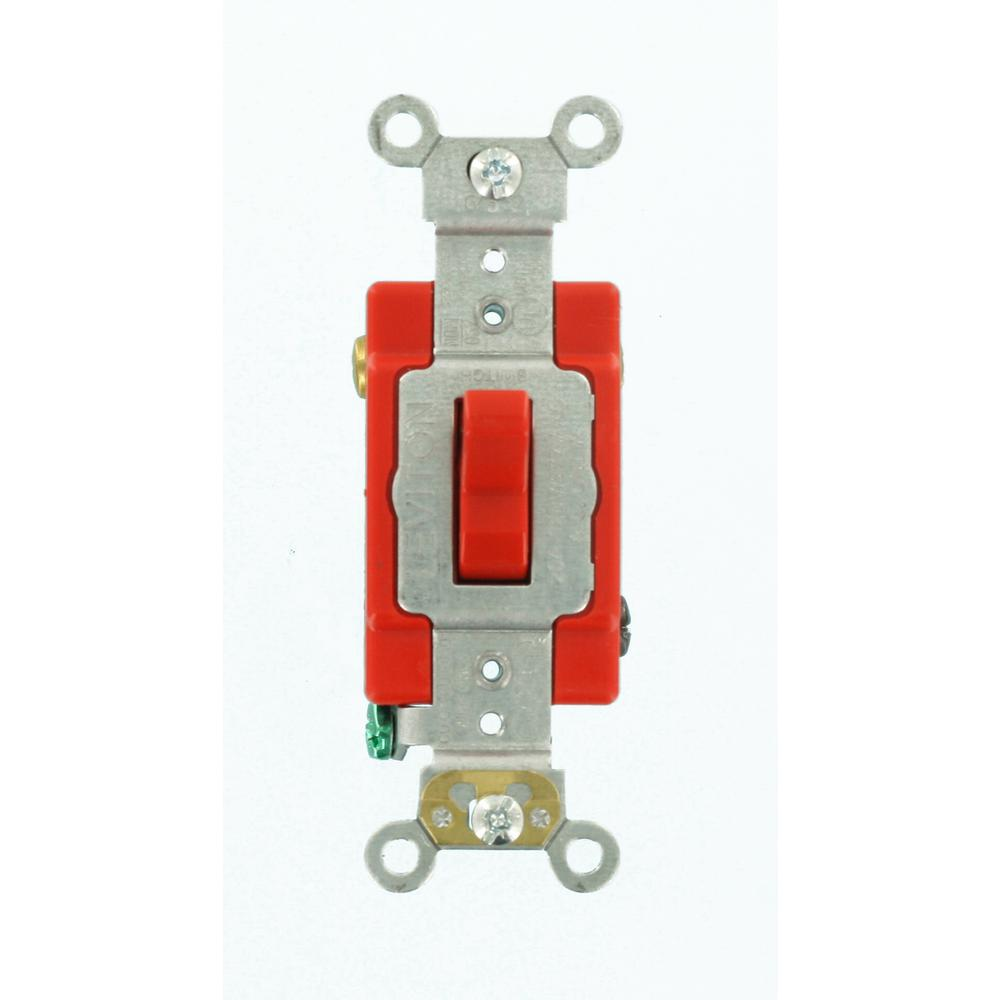Gardner Bender Heavy Duty Toggle Switch Spst 2hp 125 277v 20 15a Onoff Amp Industrial Grade 3 Way Red