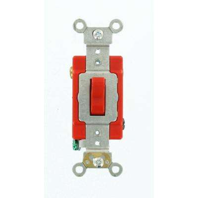 20 Amp Industrial Grade Heavy Duty 3-Way Toggle Switch, Red