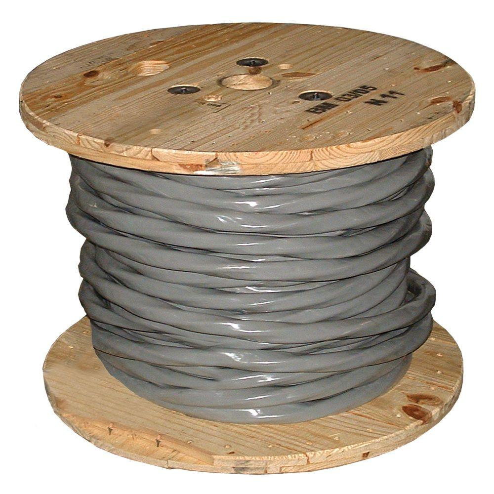 Southwire (By-the-Foot) 2-2-2-4 Gray Stranded AL SER Cable-13102999 ...