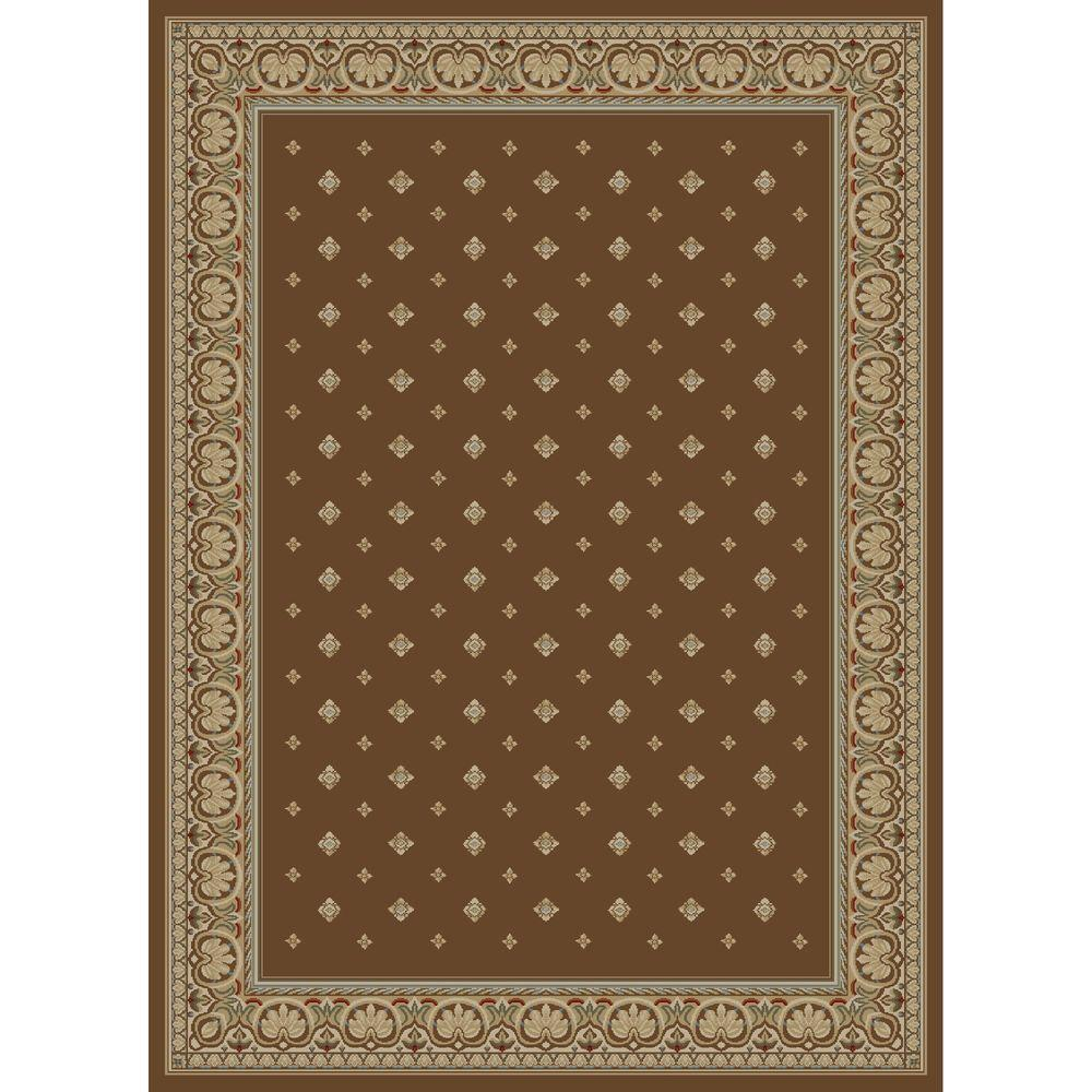 Concord Global Trading Ankara Pin Dot Brown 2 ft. 7 in. x 4 ft. 1 in. Accent Rug