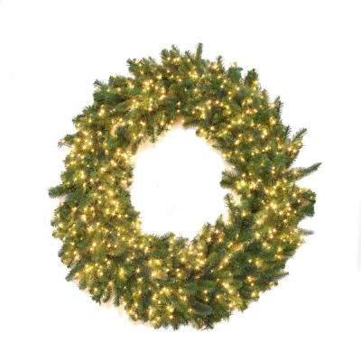 48 in. Pre-Lit LED Warm White Starry-Light Artificial Wreath