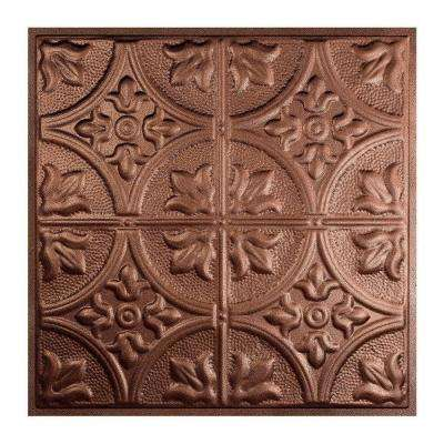 Jamestown 2 ft. x 2 ft. Lay-in Tin Ceiling Tile in Penny Vein