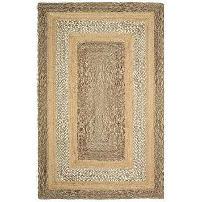 Classic Jute Gray / Natural Rectangle 8 ft. x 10 ft. Indoor Area Rug