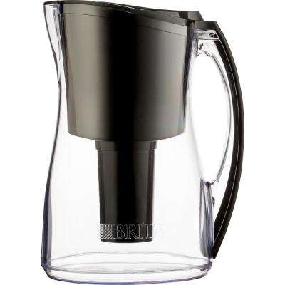 8-Cup Filtered Water Pitcher in Black